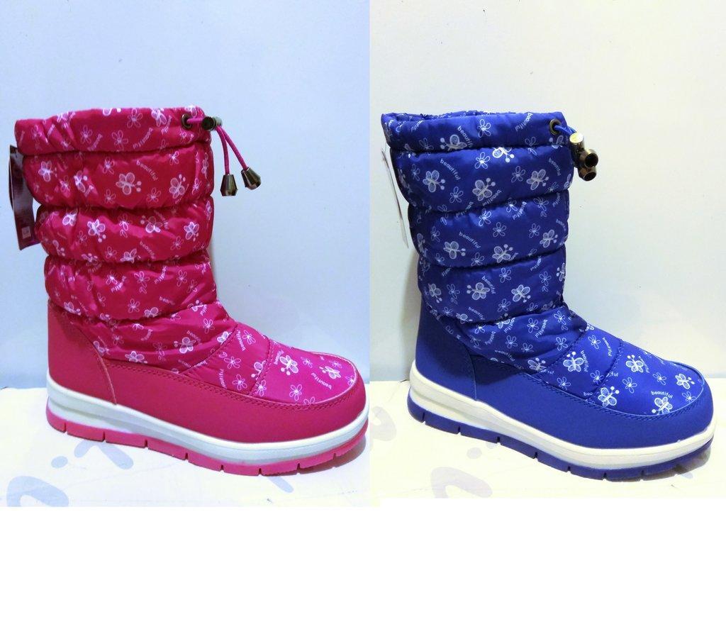 Качественные зимние сапоги для девочек бренда Caroc р. 32 - 37 , код - 260