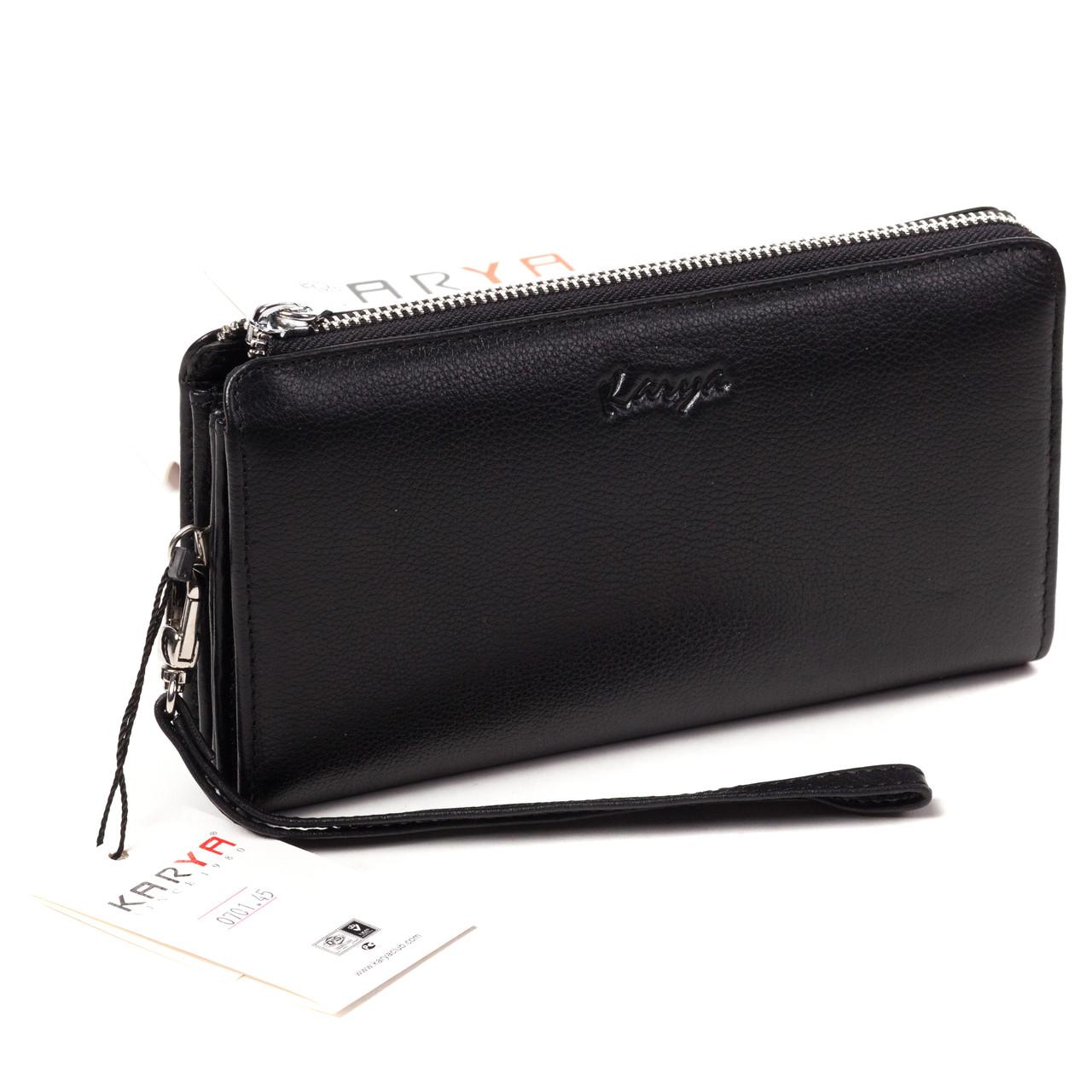 Клатч-кошелек Karya 0701-45 мужской кожаный черный