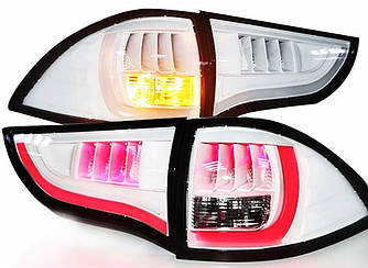 Диодные фонари Led тюнинг оптика Mitsubishi Pajero Sport 2 белые