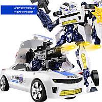 Большой робот-трансформер Бамблби полицейский 34см