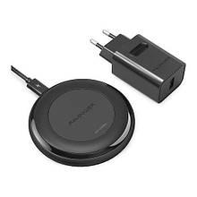 Беспроводная зарядка RavPower Wireless Fast Qi Charging 10W Black + QC 3.0 Adapter (RP-PC058)