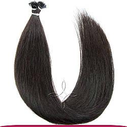 Натуральные Славянские Волосы на Капсулах 40 см 100 грамм, Черный №1B