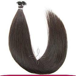 Натуральные Славянские Волосы на Капсулах 40 см 100 грамм, Шоколад №02