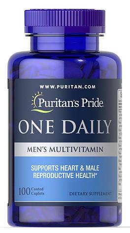 Puritan's Pride One Daily Men's Multivitamin 100 caps, фото 2