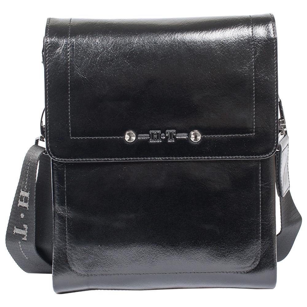 3d1b935acf8a Мужская кожаная сумка HT 5138-3 черная лаковая (27х22х4,5 см): 2 362 ...