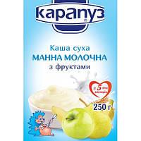 Каша молочная манная с фруктами Карапуз  с 5 месяцев 250 гр