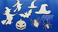 Заготовки из фанеры, декор на Хэллоуин, декорации Halloween, оформление витрин, помещений декорациями