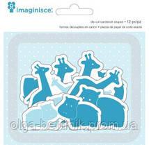 Картонные высечки My Baby Giraffes&Hippos,Imaginisce 400516