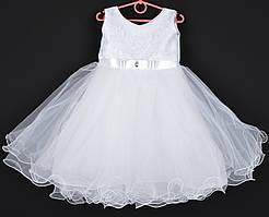 """Платье нарядное детское """"Жанна"""" 2-4 года. Белое. Купить оптом и в розницу"""