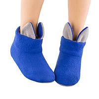 Домашние тапочки Котики с ушками Сине-серый (Tcat_blue_grey)