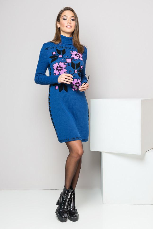 Практичное платье-вышиванка на зиму - Оптово - розничный магазин одежды