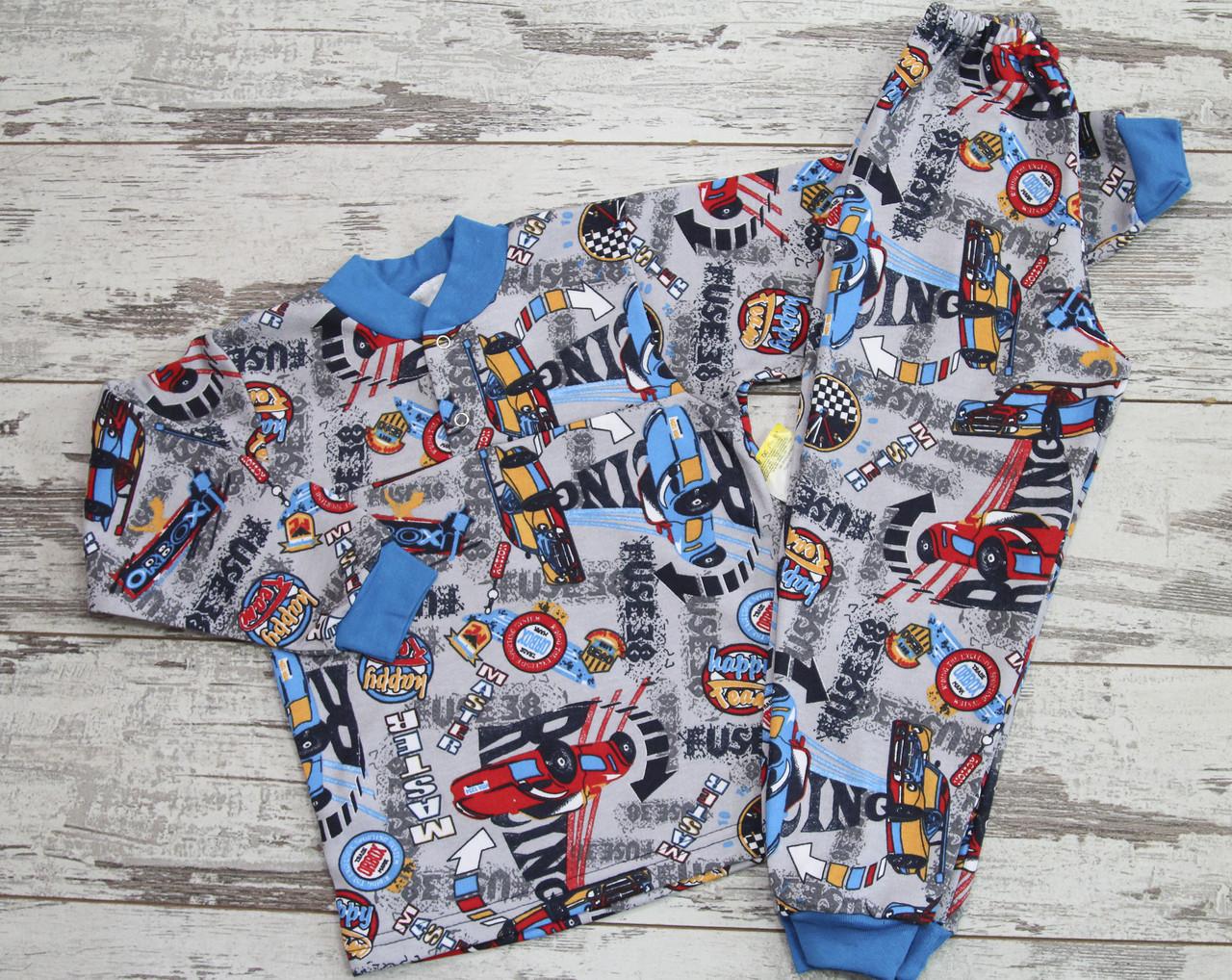 Тёплая пижама  для мальчика, футер. размер 28