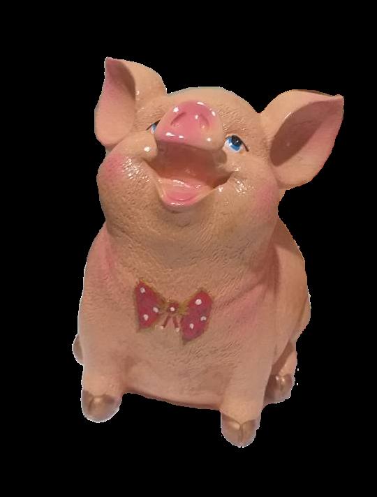Садовая фигурка Свинка колобок