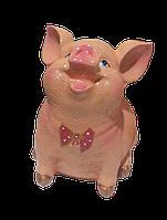 Садовая фигурка Свинка колобок, фото 1