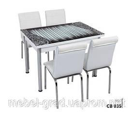 Обеденный набор с раскладным столом Абстракция Лотос-М