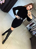 Вязаное платье-туника под горло арт 0724, фото 1