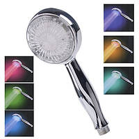 Насадка для душа ручная лейка LED SHOWER 3 colour Металик