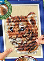 Вышивка крестиком на канве  Cross Stitch: Тигр