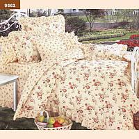"""Двуспальное постельное белье из 100% хлопка (""""Вилюта"""" ранфорс) 9562"""