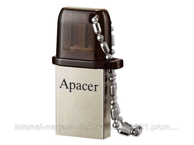 USB-флешка  Apacer AH175 Dual OTG 32Gb black