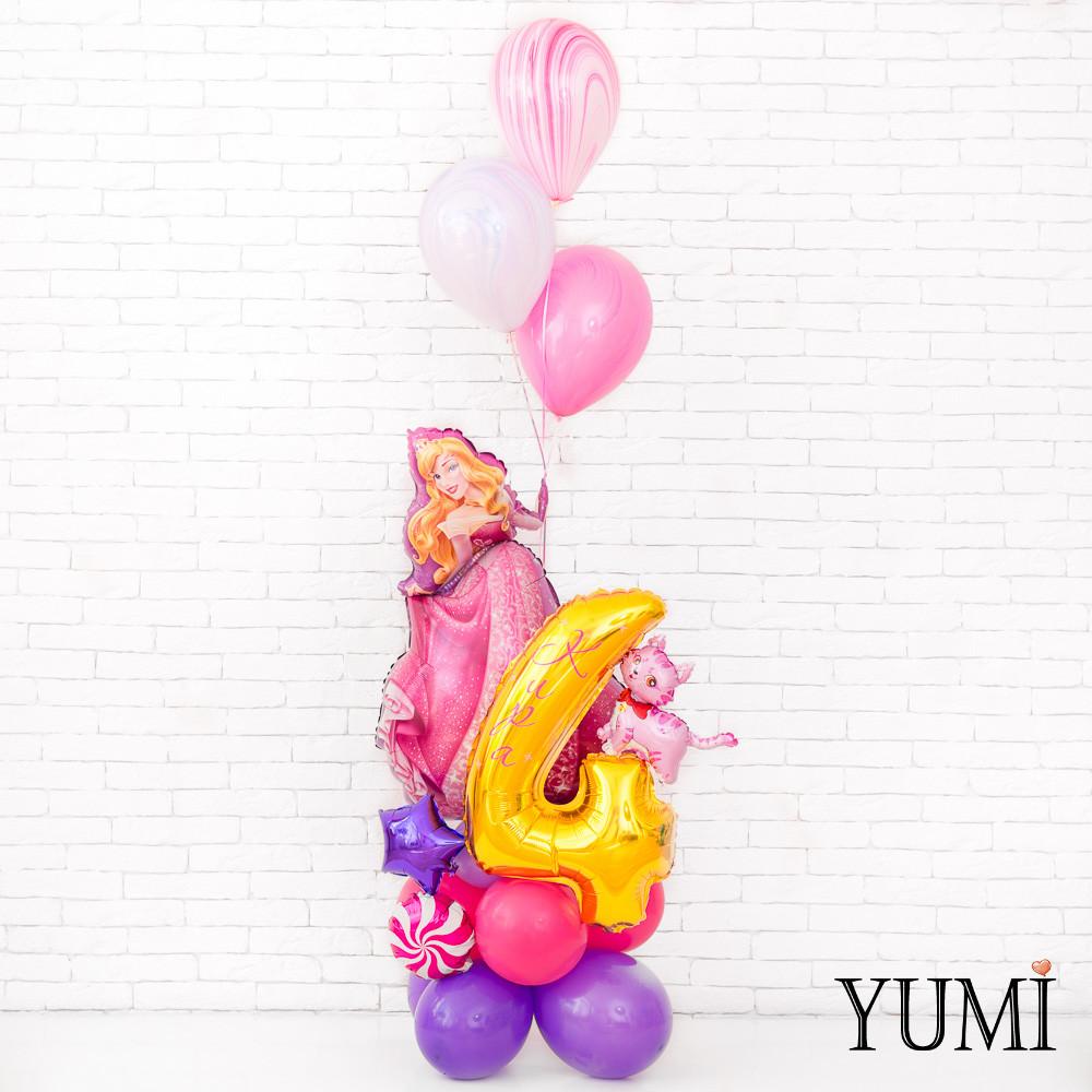 Композиция из воздушных шаров с принцессой Авророй