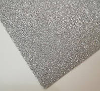 Фоамиран с глитером для рукоделия серебро, фото 1