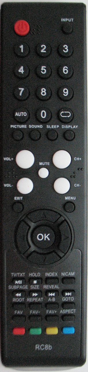 Пульт от телевизора SUPRA.  Модель RC8b