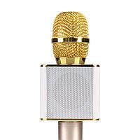 Микрофон с функцией Караоке Tuxun Q7 (USB, AUX, Bluetooth) Золотой