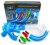 Трубопроводный Автотрек Tube Race Chariots Speed Pipes Синий 27 деталей