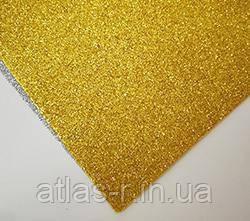 Фоамиран с глитером для рукоделия золото