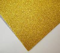 Фоамиран с глитером для рукоделия золото, фото 1