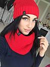 Набор шапка на флисе и шарф-хомут, фото 3