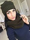 Набор шапка на флисе и шарф-хомут, фото 4