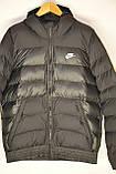 Мужская куртка Nike черная еврозима., фото 5