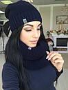 Набор шапка на флисе и шарф-хомут, фото 5