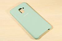 Оригинальный силиконовый чехол для Samsung A730 Galaxy A8 Plus 2018 Silicone Cover (Бирюзовый)