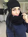 Набор шапка на флисе и шарф-хомут, фото 7