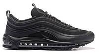 "Мужские Кроссовки Nike Air Max 97 ""Triple Black"" - ""Черные""  (Копия ААА+)"