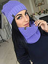 Набор шапка на флисе и шарф-хомут, фото 10