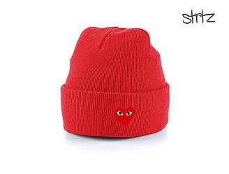 Шапка Comme Des Garcons красного цвета  (люкс копия)