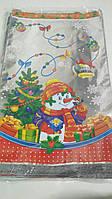 Новогодние пакеты для конфет и подарков (30*50) №35(новый), 100 шт\пач