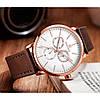 Мужские часы Naviforce Business Leather Gold NF3001, фото 3