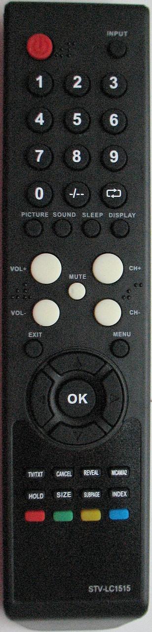 Пульт от телевизора SUPRA.  Модель STV-LC1515