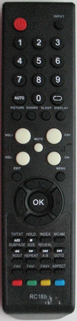 Пульт от телевизора SUPRA.  Модель RC18b