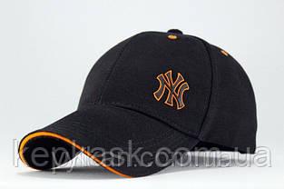 Бейсболка коттон с оранжевым кантом, фото 2
