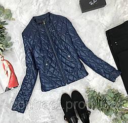 Стеганная куртка синего цвета H&M  OV1843038 H&M