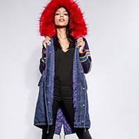 Джинсовые куртки зимние с мехом