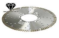 Диск алмазный турбо сегментный Elite под фланец для резки габбро, 230 мм