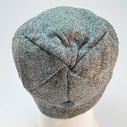 """Комплект """"Kruz"""" шапка с заклепкой и бафф на флисе, фото 2"""