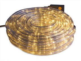 Гирлянды декоративные Дюрлайт 240Led 10метров внутренний / внешний - уличный теплый золотой